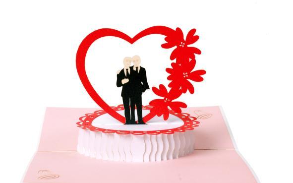 Mr Mr Schwule Hochzeit Pop Up Kirigami Karte Von Diese